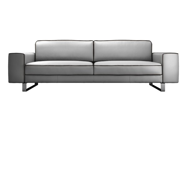 Waverly Leather Sofa by Modloft Black