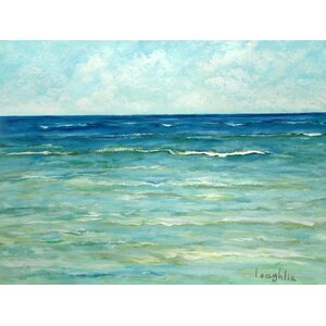 'Waves' by Brendan Loughlin Painting Print on Wrapped Canvas by Buy Art For Less