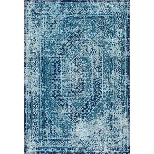 Chianna Vintage Blue Area Rug by Mistana