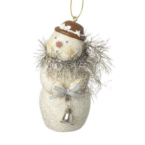 Weihnachtsbaumfigur Schneemann mit Lamettaschal Die Saisontruhe | Wohnzimmer > Truhen | Die Saisontruhe