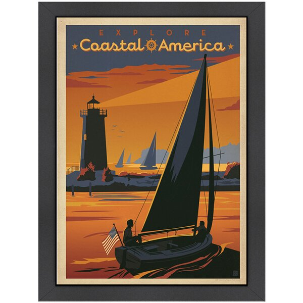 Explore Coastal America Framed Graphic Art by Americanflat