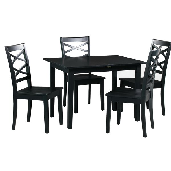 Best  Spiller 5 Piece Extendable Solid Wood Dining Set By Winston Porter Cool