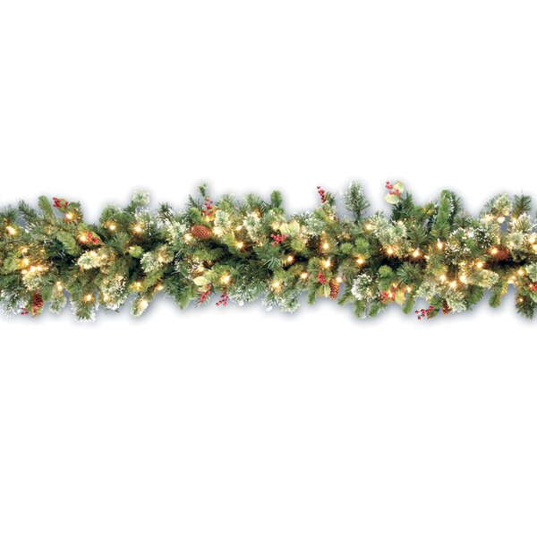 Pine Pre-Lit Garland by Three Posts
