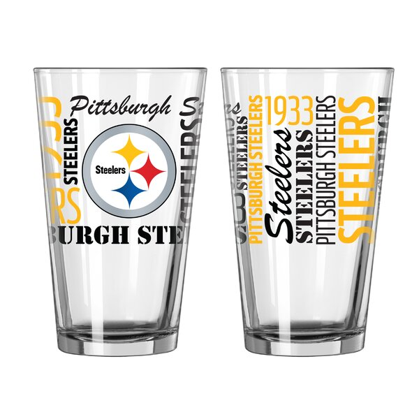 NFL 16 Oz. Pint Glass (Set of 2) by Boelter Brands