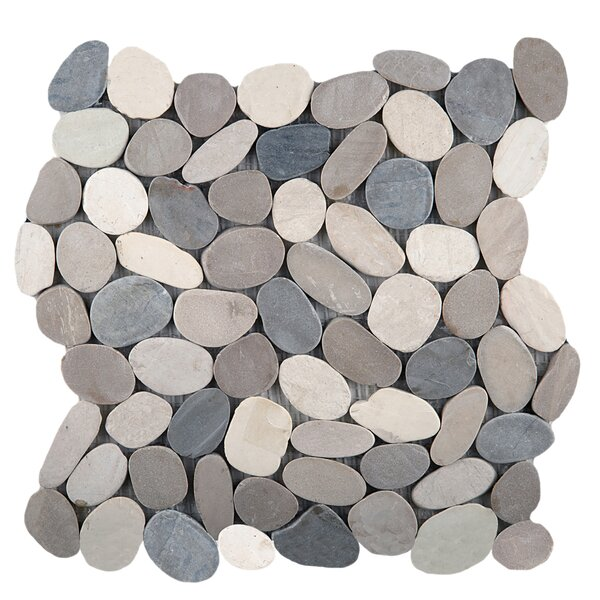Flat Venetian Pebbles 12 x 12 Mosaic Tile in Medici Blend by Emser Tile