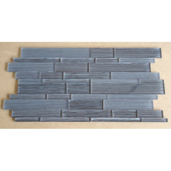 Studio Random Sized Glass Mosaic Tile in Brown and Gray by Mulia Tile