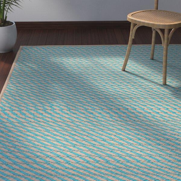 Mammari Hand-Woven Blue Indoor/Outdoor Area Rug by Bay Isle Home