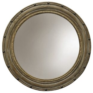 Breakwater Bay Fabry Rope and Rivets Round Wall Accent Mirror