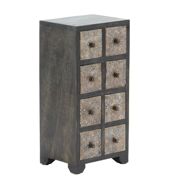 Cima Rustic Rectangular 8-Drawer Vertical Free Standing Jewelry Armoire by Bloomsbury Market