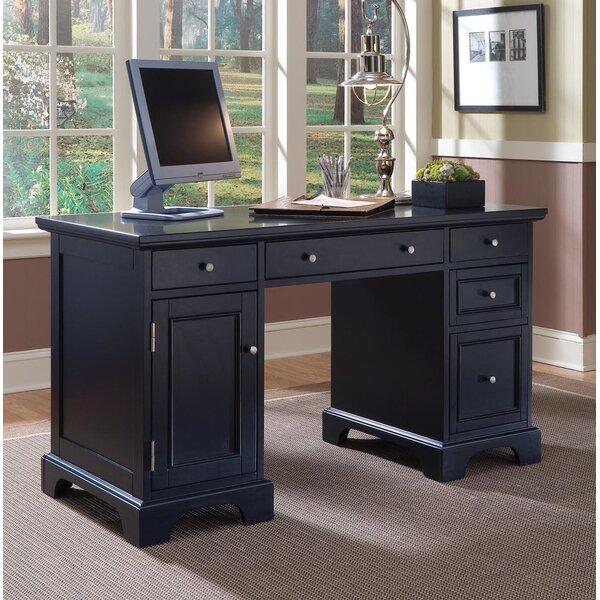 Marblewood Double Pedestal Computer Desk by Alcott Hill