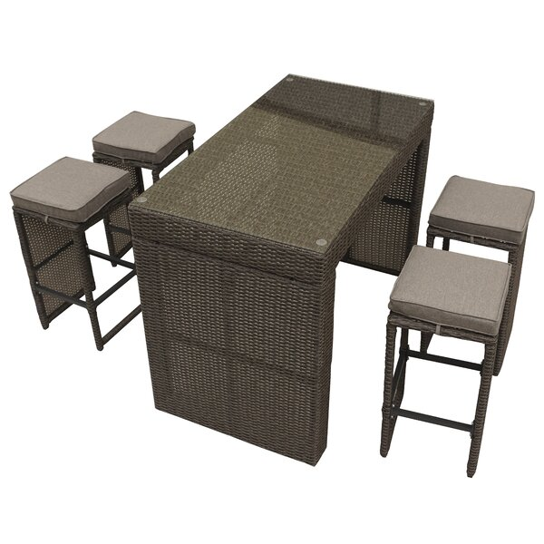 Brinkley 5 Piece Bar Height Dining Set by Willa Ar