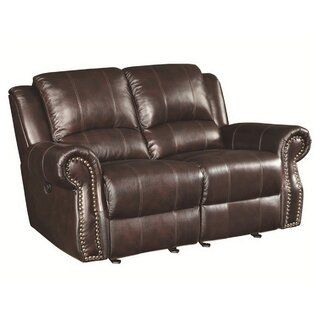 Algona Leather Reclining Loveseat by Canora Grey SKU:CC220130 Reviews