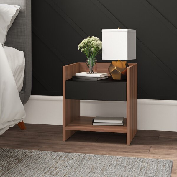 Review Elkton 1 Drawer Nightstand