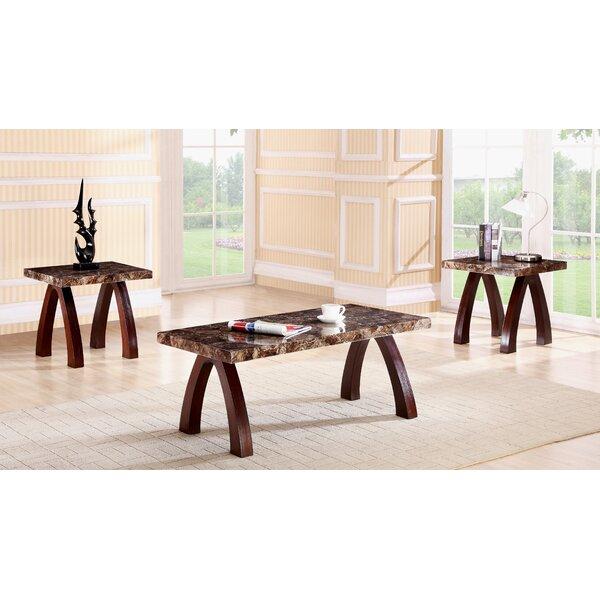 Woodsen Faux Marble Wooden 3 Piece Coffee Table Set by Red Barrel Studio Red Barrel Studio®