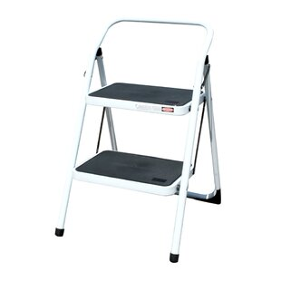 Bedroom Foldable 2 Step Stool by Offex