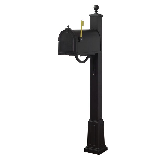 Berkshire Curbside Locking Mailbox with Springfield Post Included with Base by Special Lite Products