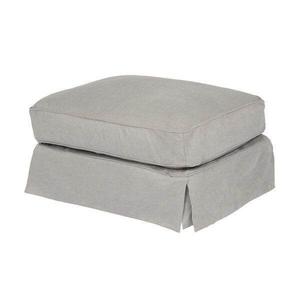Elsberry Box Cushion Ottoman Slipcover By Rosecliff Heights