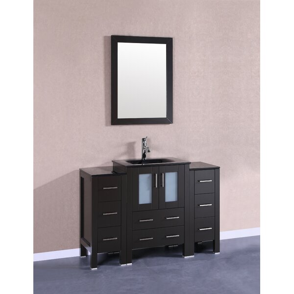 Templeton 48 Single Bathroom Vanity Set with Mirror by Bosconi