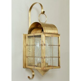 Compare prices Xzavier 1-Light Outdoor Wall Lantern By Breakwater Bay
