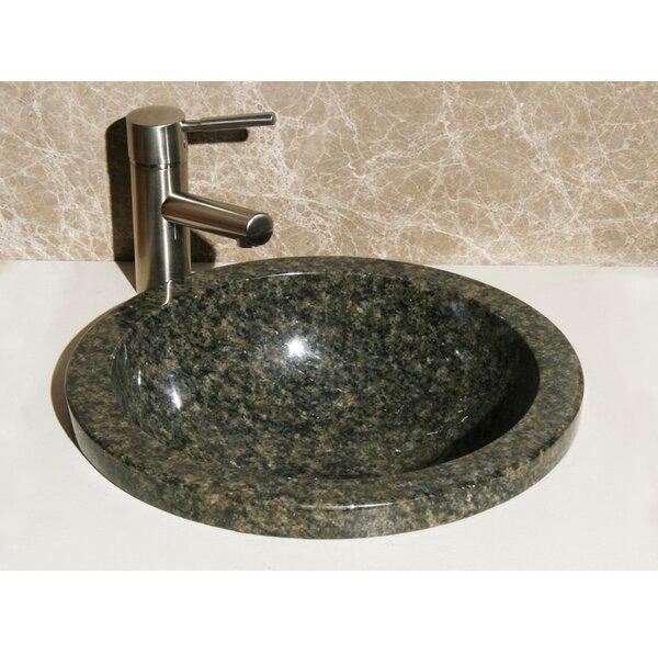 Stone Circular Drop-In Bathroom Sink by Allstone Group