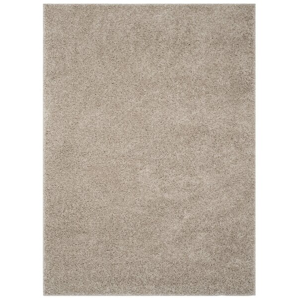 Helsel Light Gray Area Rug by Wrought Studio