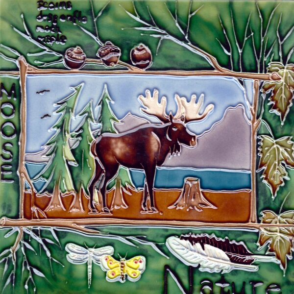Nature Moose Tile Wall Decor by Continental Art Center