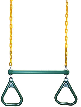 Gym Ring/Trapeze Bar Combo with Coated Chains (Set of 5) by Eastern Jungle Gym