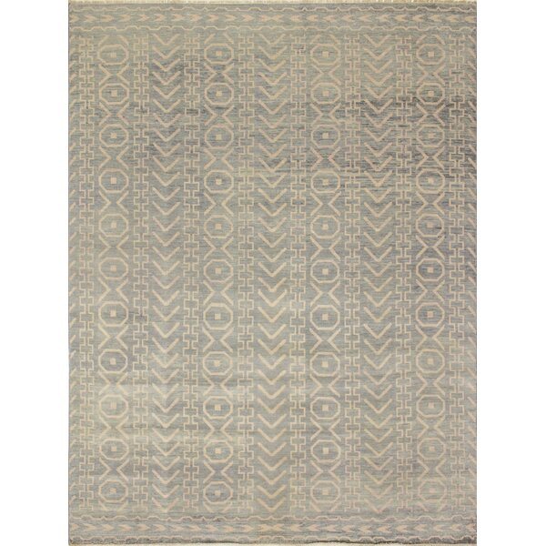 One-of-a-Kind Lona Hand-Knotted Gray/Green Area Rug by Isabelline