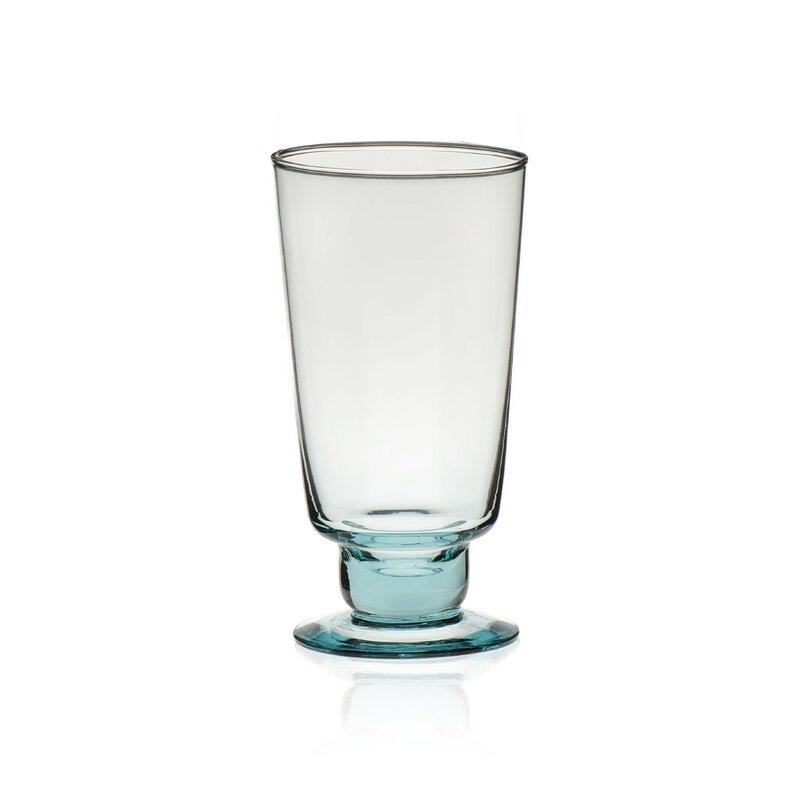 Luna Hand-blown Goblet 12 oz. Pint Glasses