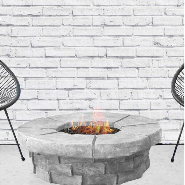Bronwyn Steel Fire Pit Table by Bungalow Rose