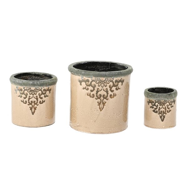 Wicker Park Filigree French 3-Piece Pot Planter Set by Ophelia & Co.