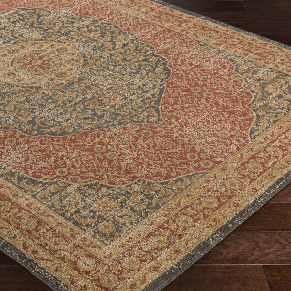 Cerys Neutral Brown Area Rug by Bloomsbury Market