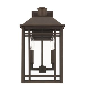 Compare prices Chad 2-Light Outdoor Wall Lantern By Alcott Hill
