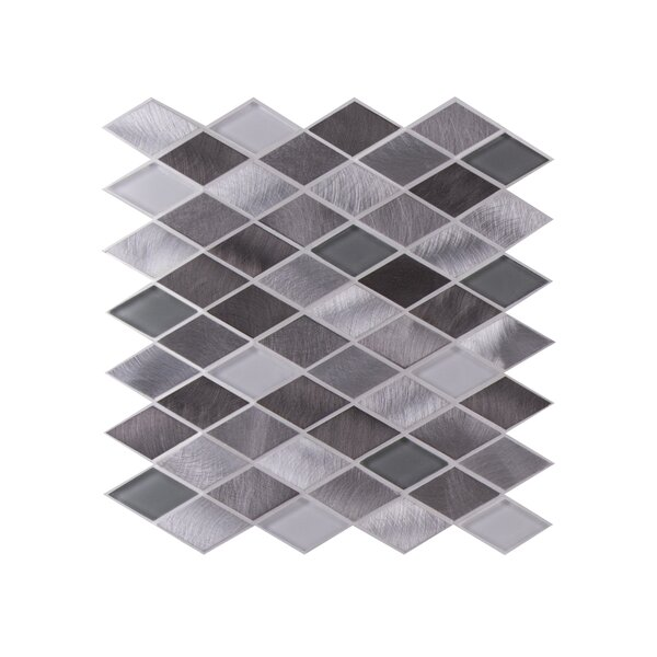 Twilight Series Glass Mosaic Tile in Glossy White/Gray by WS Tiles