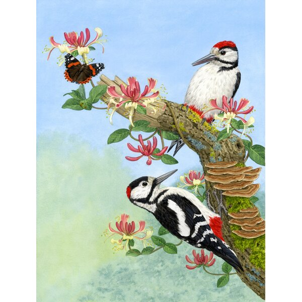 Woodpeckers Vertical Flag by Caroline's Treasures