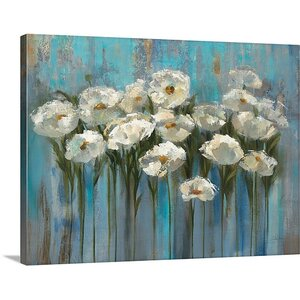 'Anemones' by the Lake' by Silvia Vassileva Painting Print on Canvas by Great Big Canvas