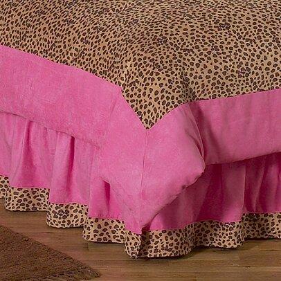 Cheetah Pink Queen Bed Skirt by Sweet Jojo Designs