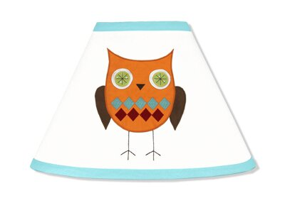 Hooty Turquoise and Lime 7 Empire Lamp Shade by Sweet Jojo Designs