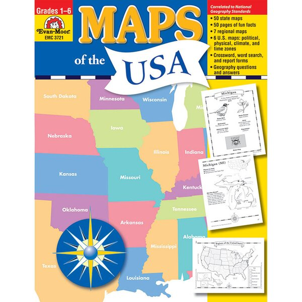 Maps of The Usa Chart by Evan-Moor