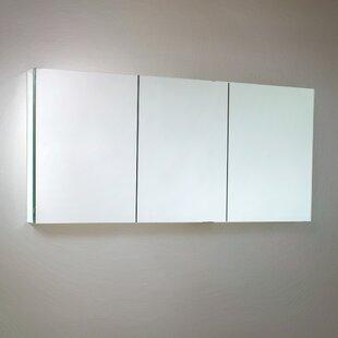60 x 26 Recessed or Surface Mount Frameless Medicine Cabinet with 4 Adjustable Shelves ByFresca