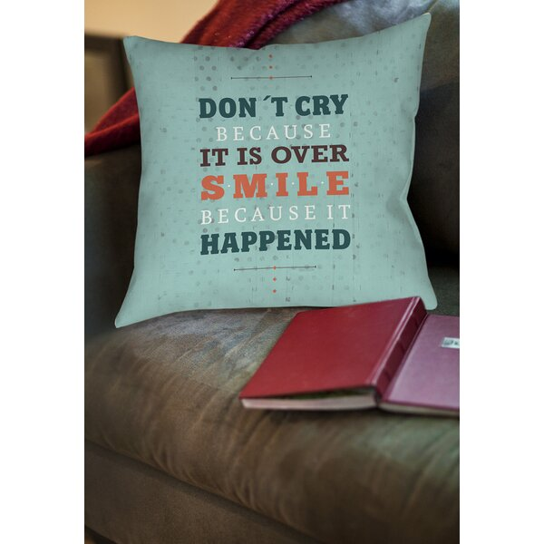 Smile at Past Printed Throw Pillow by Manual Woodworkers & Weavers