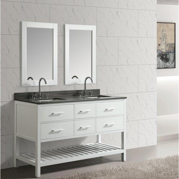 Highland Creek 60 Double Bathroom Vanity Set with Mirror by Ebern Designs