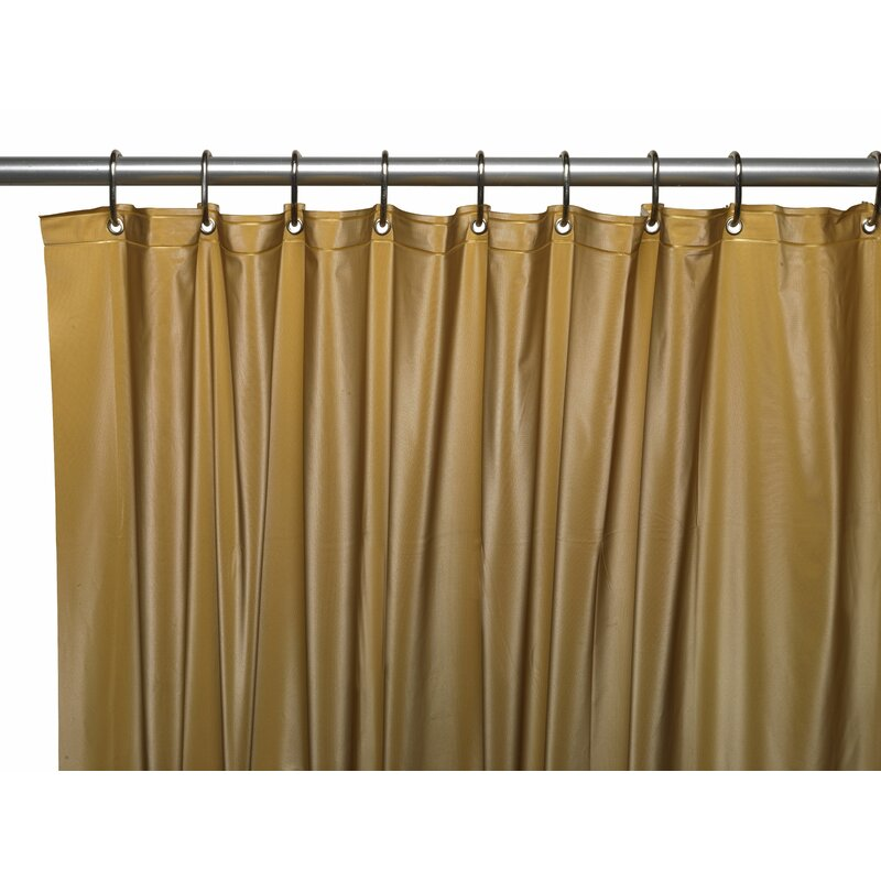 Hotel 8 Gauge Vinyl Shower Curtain Liner With Weighted Magnets And Metal Grommets