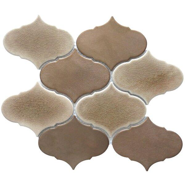 Retro 3 x 3 Porcelain Mosaic Tile in Brown by Emser Tile