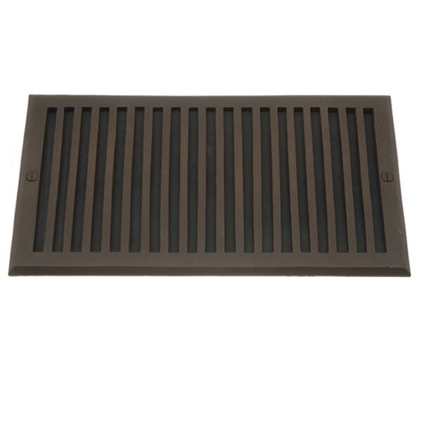 Solid Cast Oversized Cold Air Return Decorative Contemporary Cover in Bronze by The Copper Factory