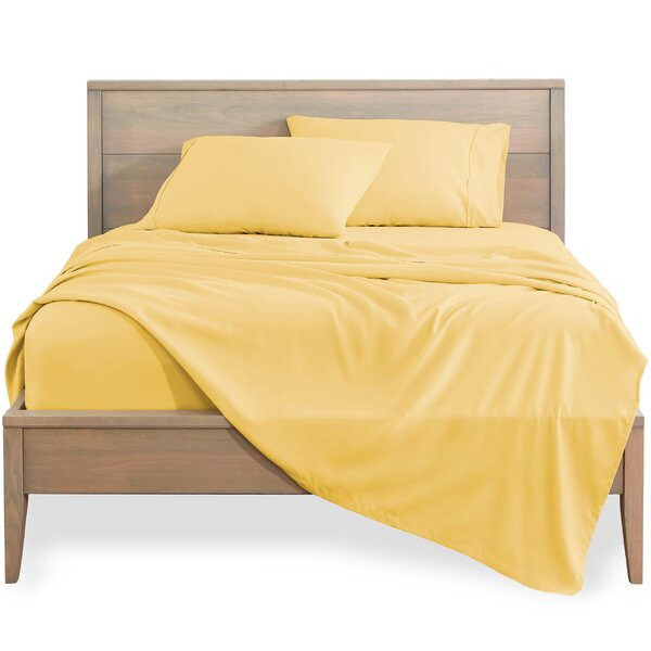 400 Thread Count 100/% Pure Cotton Sunshine-Yellow Twin Fitted Sheet Only 1 Piece Smooth Sateen Bottom Sheet Elasticized Deep Pocket Fits Low Profile Foam and Tall Mattresses