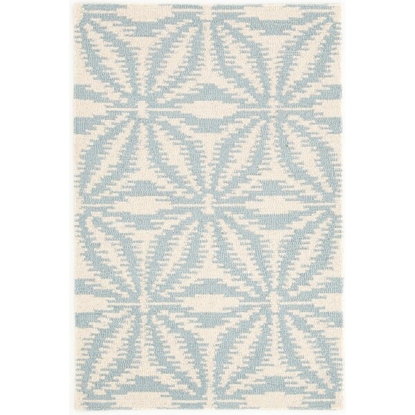Aster Hooked White/Blue Area Rug by Dash and Albert Rugs