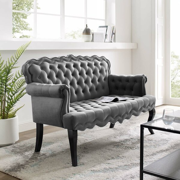 Trendy Modern Mcarthur Settee by House of Hampton by House of Hampton