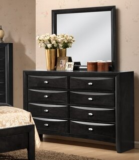 Antwerp 8 Drawer Double Dresser with Mirror by Red Barrel Studio