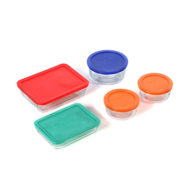 Dish 5 Container Food Storage Set by Pyrex